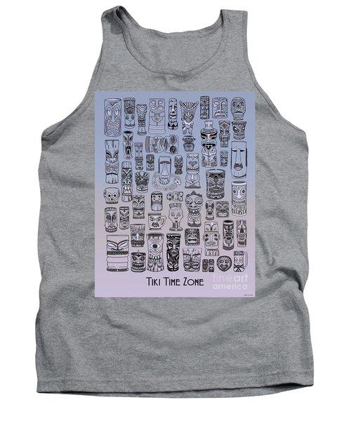 Tank Top featuring the digital art Tiki Cool Zone by Megan Dirsa-DuBois