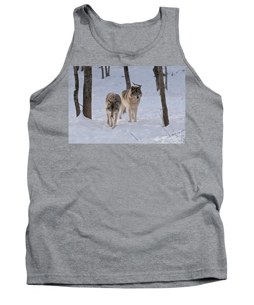 Tank Top featuring the photograph Timber Wolf Pair  by Wolves Only