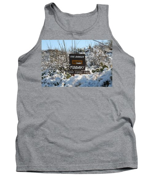 Tank Top featuring the photograph Time To Change The Sign by David S Reynolds