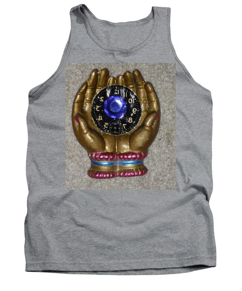 Tank Top featuring the sculpture Timeless Hands by Douglas Fromm