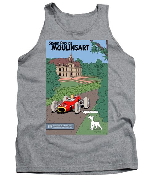 Tintin Grand Prix De Moulinsart 1965  Tank Top