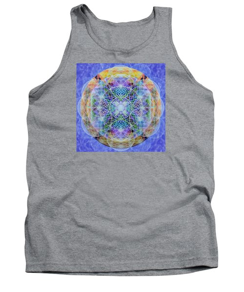 Tank Top featuring the digital art Torusphere Synthesis Interdimensioning Soulin Iv by Christopher Pringer