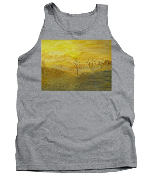 Touch Of Gold Tank Top by Sonali Gangane