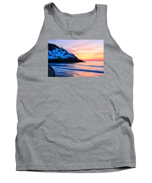 Touch Of Snow Singing Beach Tank Top by Michael Hubley
