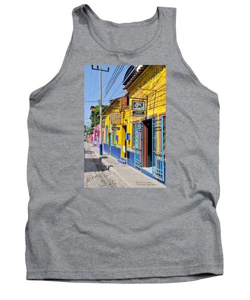 Tank Top featuring the photograph Tourist Shops - Mexico by David Perry Lawrence