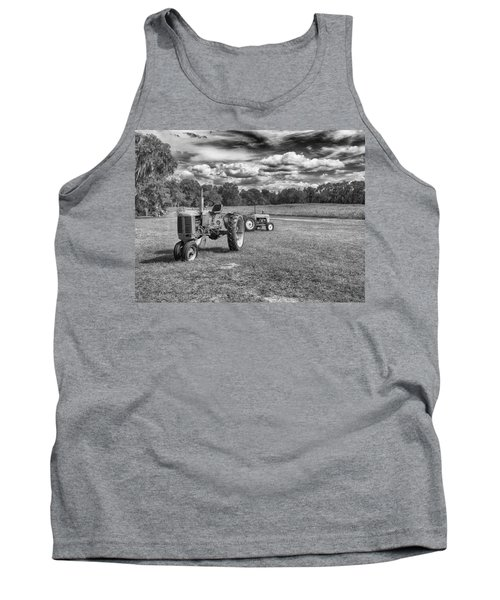 Tank Top featuring the photograph Tractors by Howard Salmon