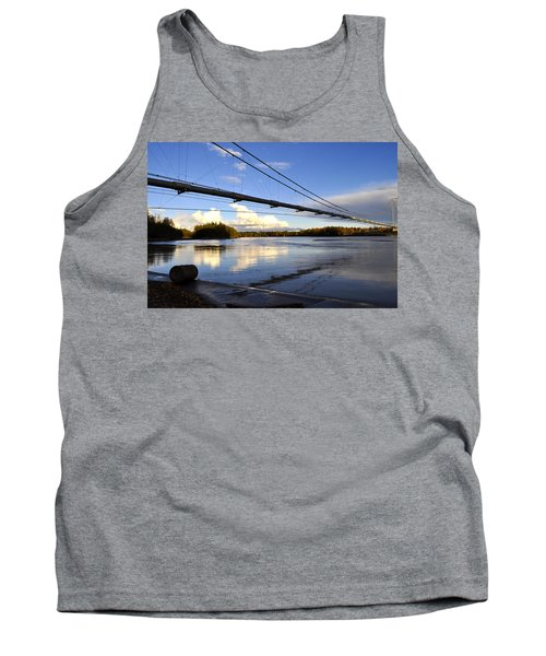 Tank Top featuring the photograph Transalaska Pipeline Bridge by Cathy Mahnke