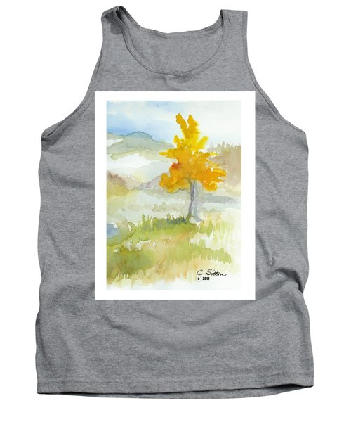 Tank Top featuring the painting Tree by C Sitton