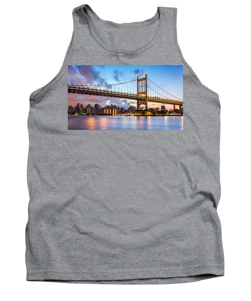 Triboro Bridge At Dusk Tank Top