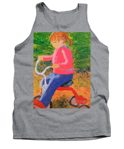 Tank Top featuring the painting Tricycle by Donald J Ryker III