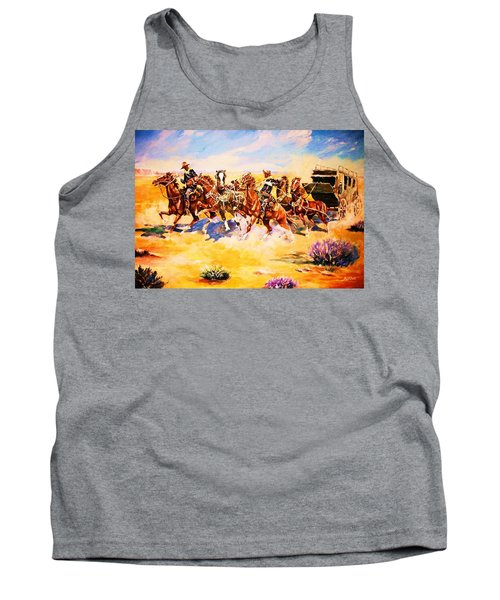 Troopers Stopping A Runaway Coach Tank Top