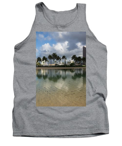 Tropical Vacation - Swaying Palms And Crystal Clear Water Tank Top