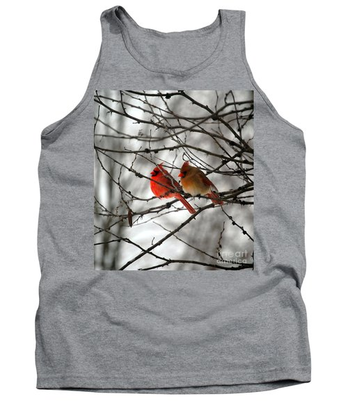 Tank Top featuring the photograph True Love Cardinal by Peggy Franz