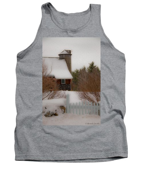Tuftonboro Farm In Snow Tank Top