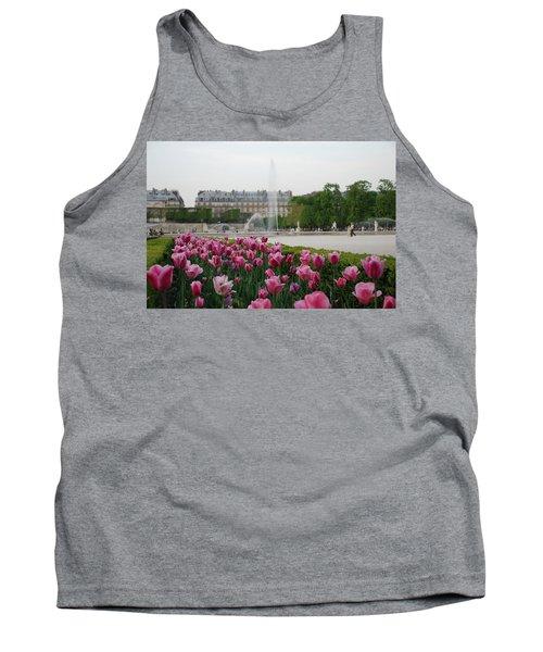 Tuileries Garden In Bloom Tank Top by Jennifer Ancker