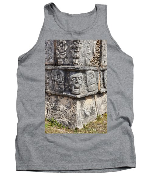 Tzompantli Or Platform Of The Skulls At Chichen Itza Tank Top