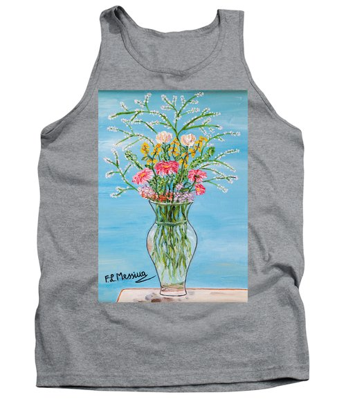 Tank Top featuring the painting Un Segno by Loredana Messina