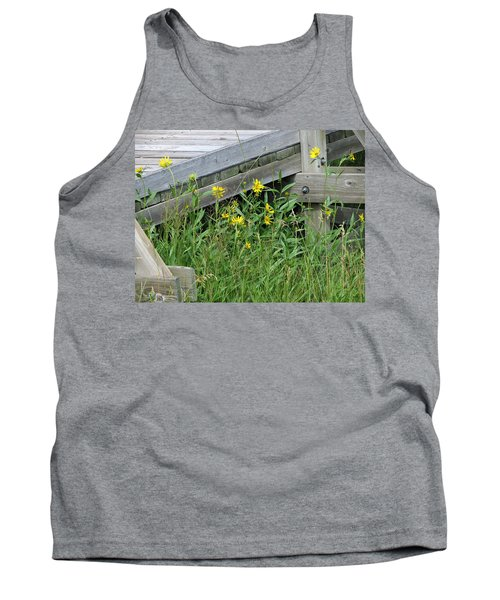 Tank Top featuring the photograph Under The Boardwalk by Laurel Powell