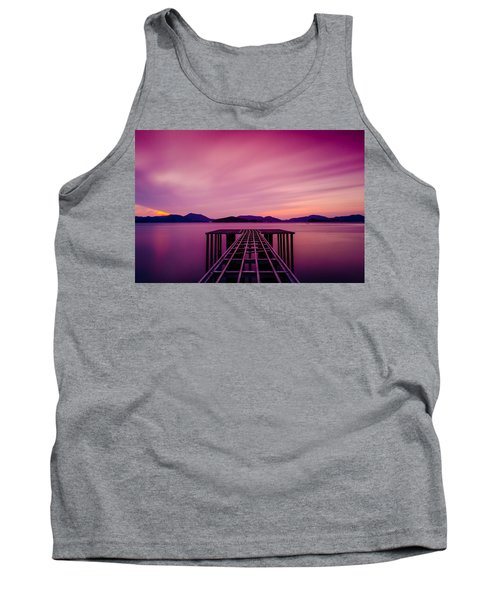 Unfinished Pier At Sunset Tank Top