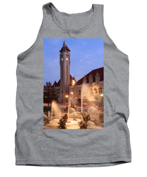Union Station In Twilight Tank Top