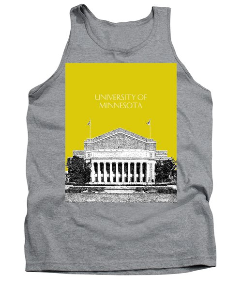 University Of Minnesota 2 - Northrop Auditorium - Mustard Yellow Tank Top