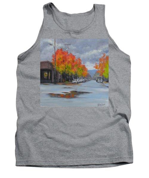 Tank Top featuring the painting Urban Autumn by Karen Ilari