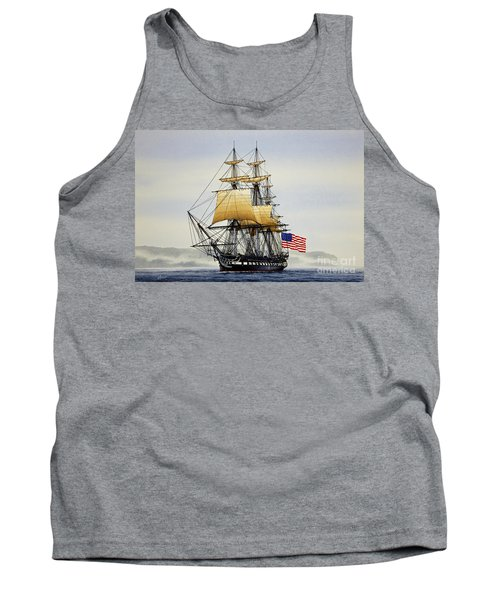 Uss Constitution Tank Top by James Williamson