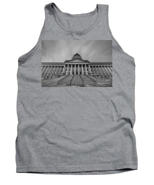 Utah State Capitol Building Bw Tank Top