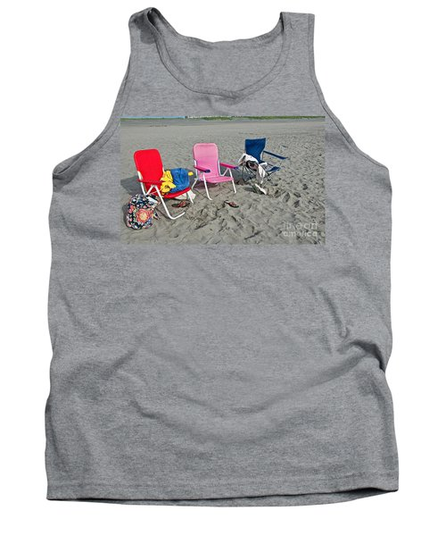 Tank Top featuring the photograph Vacation Time Beach Art Prints by Valerie Garner