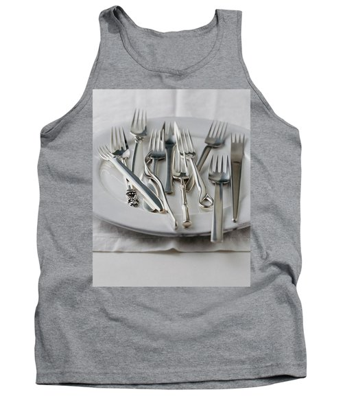 Various Forks On A Plate Tank Top