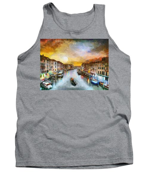 Sunrise In The Beautiful Charming Venice Tank Top by Georgi Dimitrov