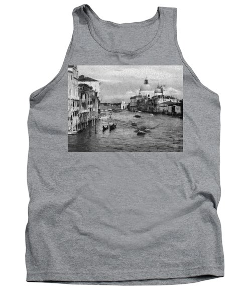 Vintage Venice Black And White Tank Top