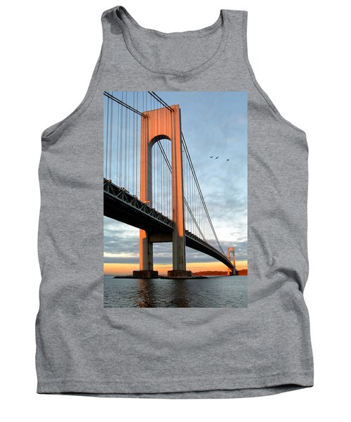 Verrazano Bridge At Sunrise - Verrazano Narrows Tank Top