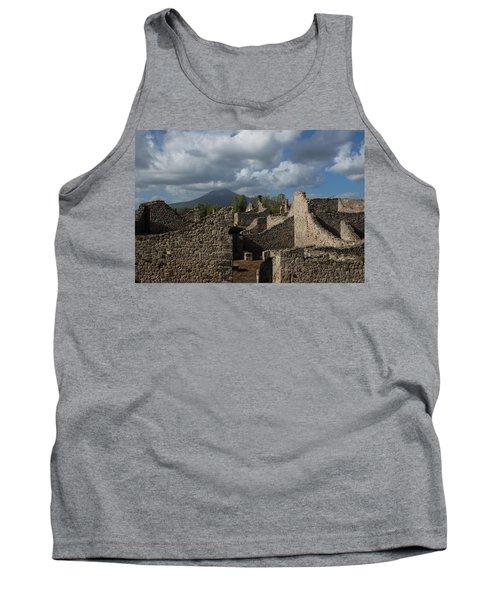 Vesuvius Towering Over The Pompeii Ruins Tank Top