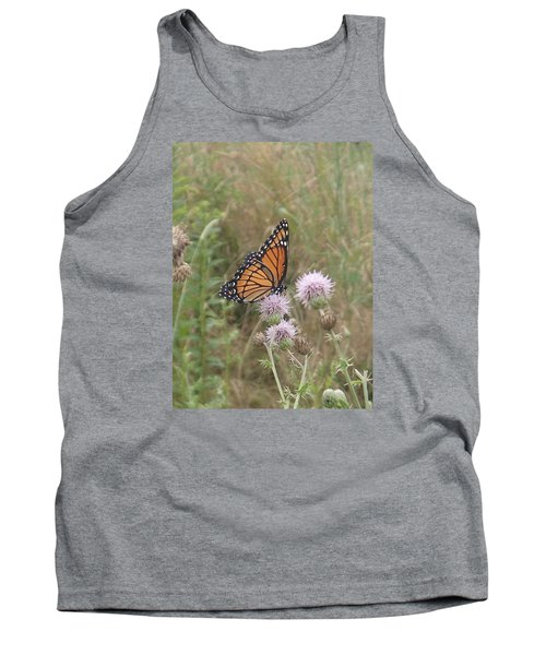 Viceroy On Thistle Tank Top by Robert Nickologianis