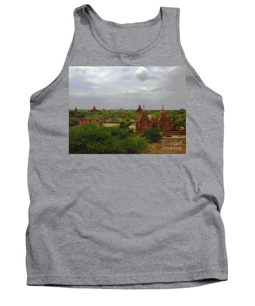 Tank Top featuring the photograph View Of Smaller Temples Next To Dhammayazika Pagoda Built In 1196 By King Narapatisithu Bagan Burma by Ralph A  Ledergerber-Photography