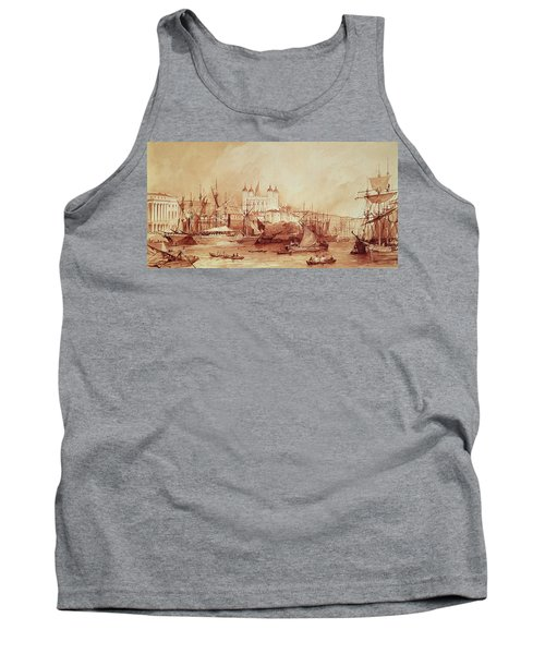 View Of The Tower Of London Tank Top by William Parrott