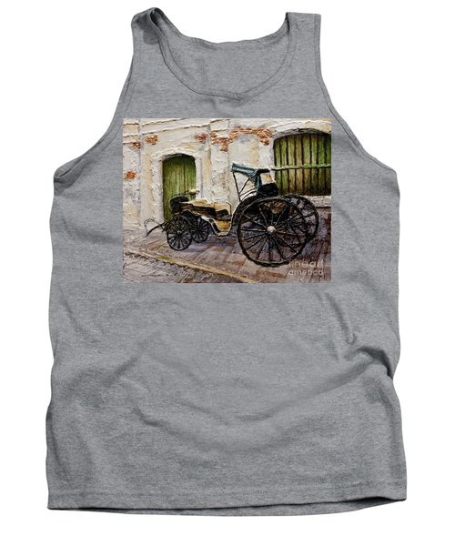Tank Top featuring the painting Vigan Carriage 2 by Joey Agbayani