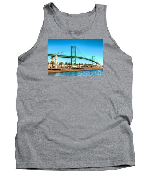 Tank Top featuring the photograph Vincent Thomas Bridge by Jim Carrell