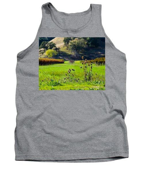 Tank Top featuring the photograph Vineyard Thistles by CML Brown