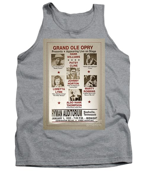 Vintage 1953 Grand Ole Opry Poster With Border Tank Top