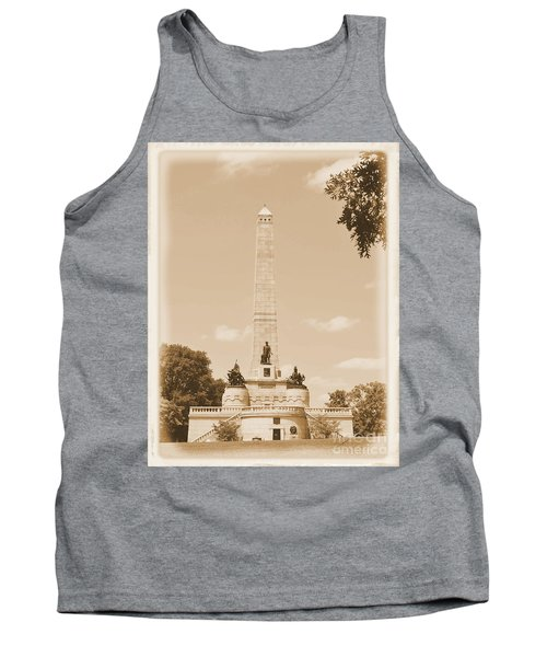 Vintage Lincoln's Tomb Tank Top by Luther Fine Art