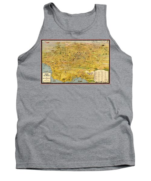 Vintage Map Of Greater Los Angeles 1932 Tank Top