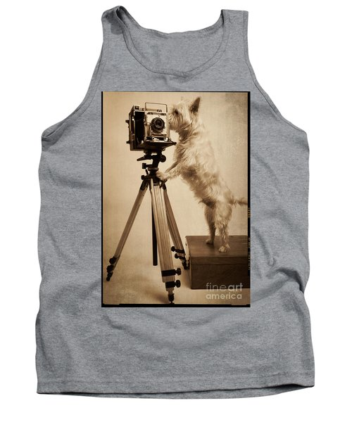 Vintage Pho Dog Grapher Westie Tank Top