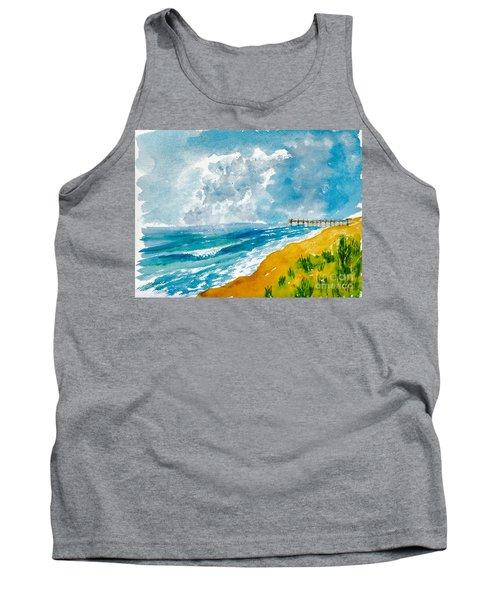 Virginia Beach With Pier Tank Top