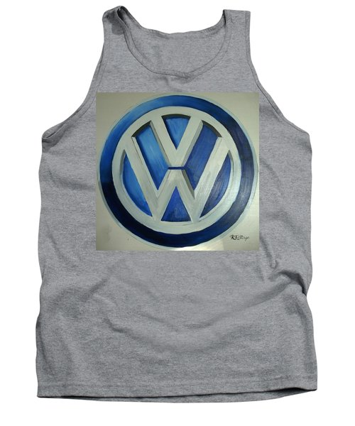 Vw Logo Blue Tank Top