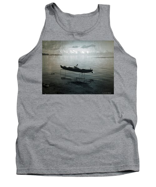 Tank Top featuring the photograph Waiting In Blue by Lucinda Walter