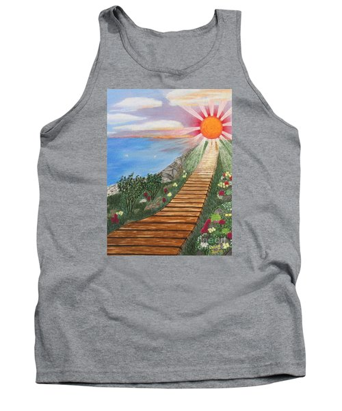 Waking Up Love Tank Top by Cheryl Bailey