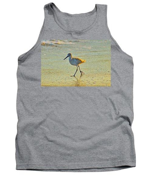 Tank Top featuring the photograph Walk On The Beach by Cynthia Guinn