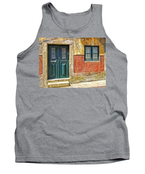 Tank Top featuring the painting Walking Through Vila De Conde by Michael Pickett